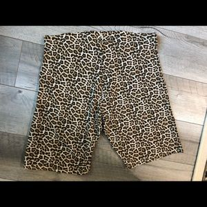 H&M Divided Animal Print Biker Shorts Size XLarge